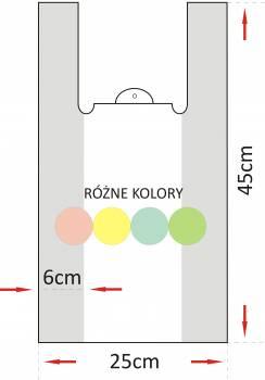 REKLAMOWKA HDPE 24x44/10um a`190szt MOCNA (kolor)