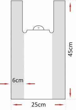 REKLAMOWKA HDPE 24x44/10um a`190szt MOCNA (biala)