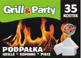 GRILL & PARTY PODPALKA BIAŁA a`35szt