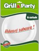 GRILL & PARTY TALERZ PLASTIKOWY a`6szt