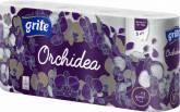 GRITE HM PAPIER ORCHIDEA WHITE 8szt 3warstwy
