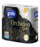 GRITE HM PAPIER ORCHIDEA GOLD 4szt 3warstwy