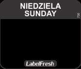 LABELFRESH EASY-ETYK 30x25/1000 (730)NIEDZIELA