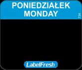 LABELFRESH EASY-ETYK 30x25/500(18001)PONIEDZIALEK