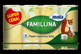 MOLA FAMILI PAPIER TOALETOWY a`8szt ZOLTY